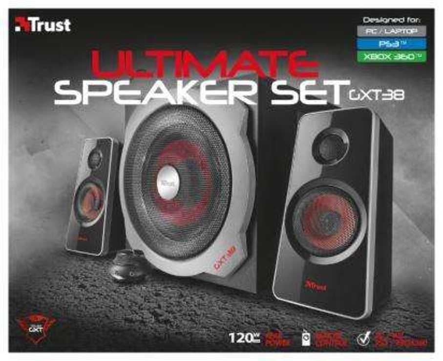 HAUTS PARLEURS GXT-38 SYSTEME 2.1 GAMER 60 WATTS RMS tr19023-5small