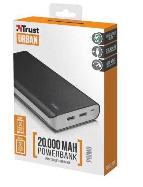 POWERBANK PRIMO 20 000 MAH 2 X USB 12 W/2,4 A NOIR tr217952small
