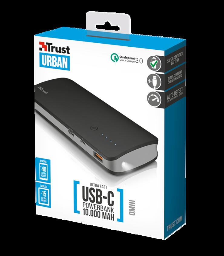 POWERBANK OMNI 10 000 MAH USB TYPE C QUICKCHARGE 3.0 tr218584