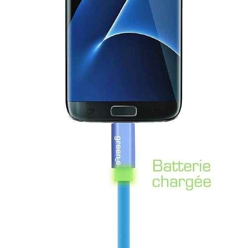 CORDON SYNCHRO + CHARGE MICRO USB 1.5M AVEC LED gr1021-2