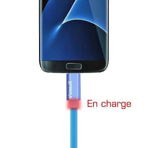 CORDON SYNCHRO + CHARGE MICRO USB 1.5M AVEC LED gr1021-3