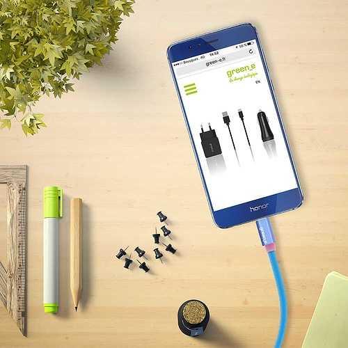 CORDON SYNCHRO + CHARGE MICRO USB 1.5M AVEC LED gr1021-4