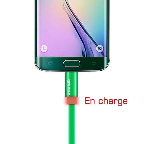 CORDON SYNCHRO + CHARGE MICRO USB 1.5M AVEC LED gr1022-3