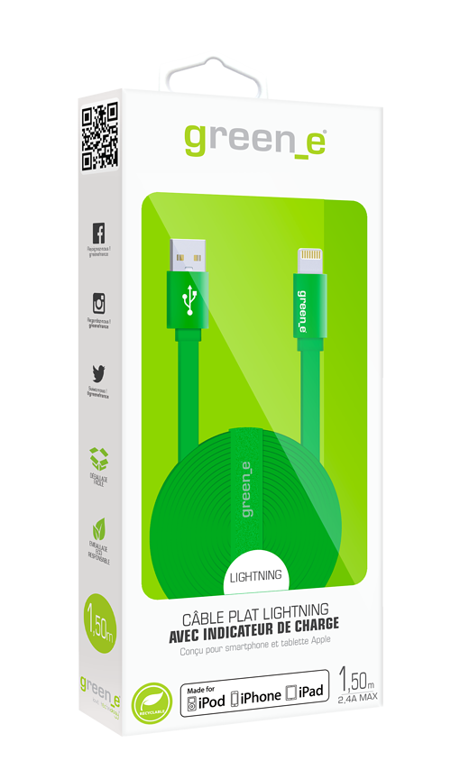 CORDON SYNCHRO + CHARGE MICRO USB 1.5M AVEC LED greene-gr1022-packagingfront