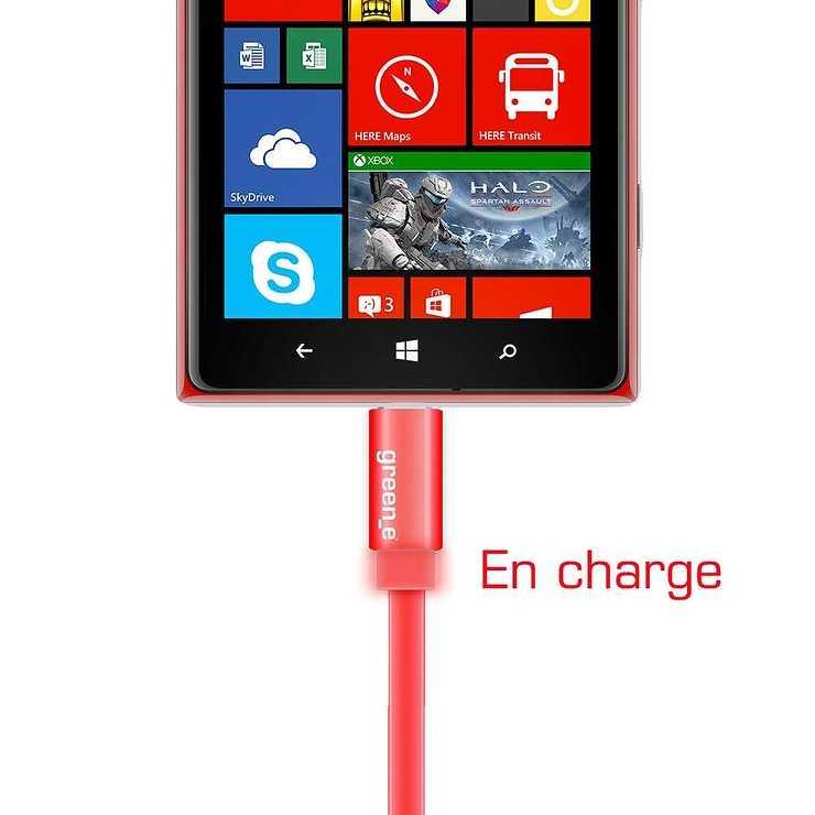 CORDON SYNCHRO + CHARGE MICRO USB 1.5M AVEC LED gr1023-2