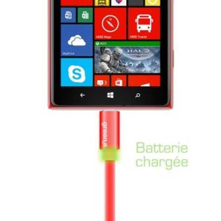 CORDON SYNCHRO + CHARGE MICRO USB 1.5M AVEC LED 0