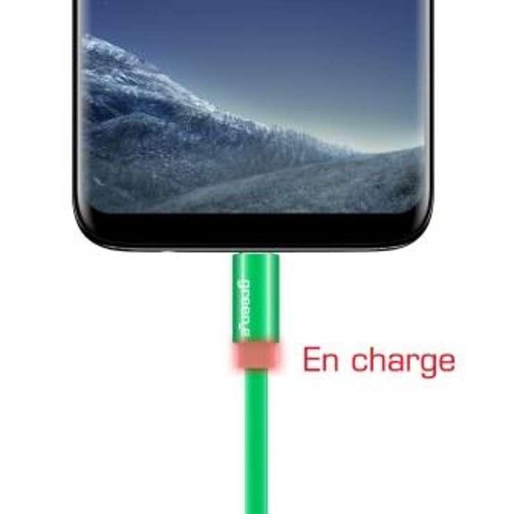 CORDON SYNCHRO + CHARGE USB TYPE C 1.5M AVEC LED 0