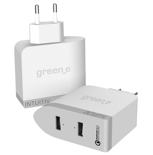 CHARGEUR SECTEUR INTUITIV TURBO 2 X 2.4A QUICK CHARGE greene-350000-situation-2