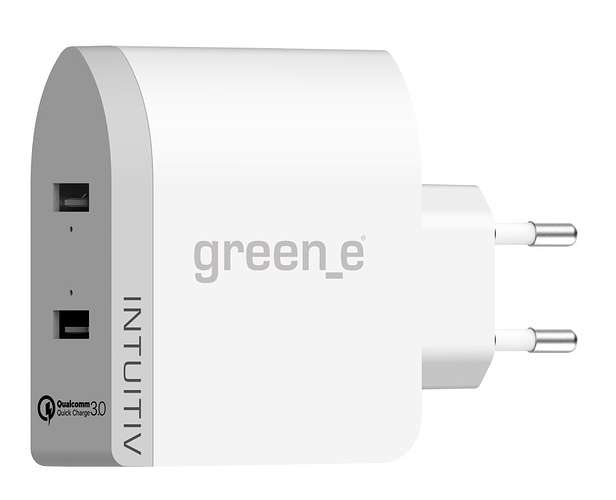 CHARGEUR SECTEUR INTUITIV TURBO 2 X 2.4A QUICK CHARGE 0