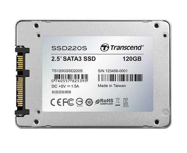 SSD SATA III 6GB/s - 120 Go SERIE 220S ts120gssd220sback-new