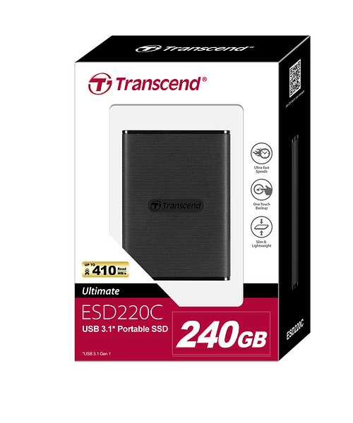 SSD portable - 240 Go SERIE 220C ts240gesd220cpackage