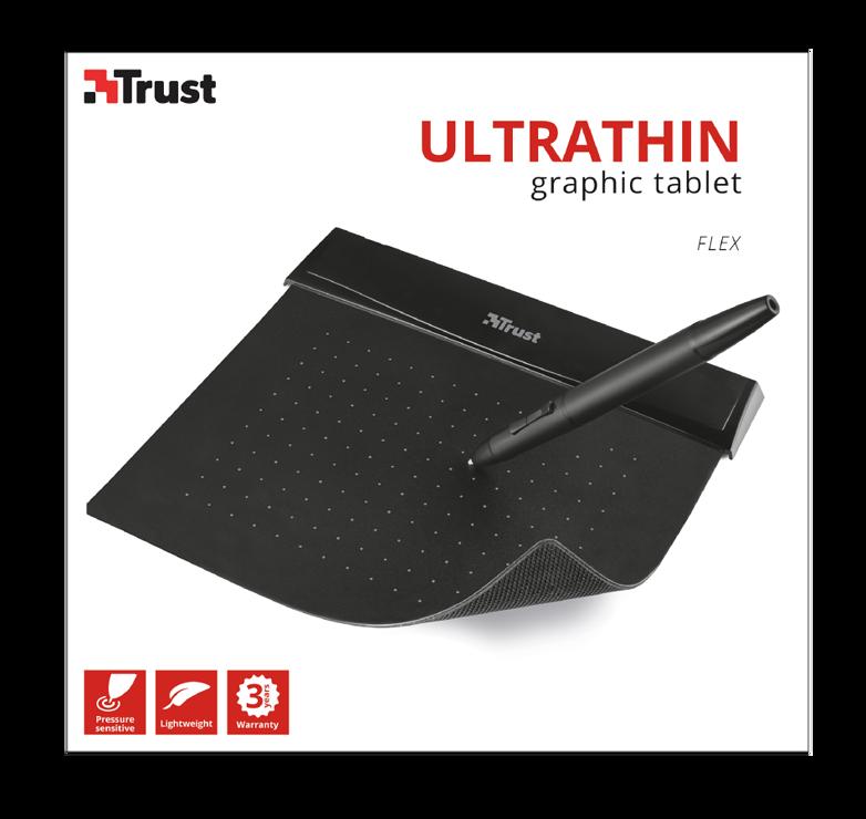 TABLETTE GRAPHIQUE FLEX DESIGN TABLET NOIR 140 × 100 mm tr212593