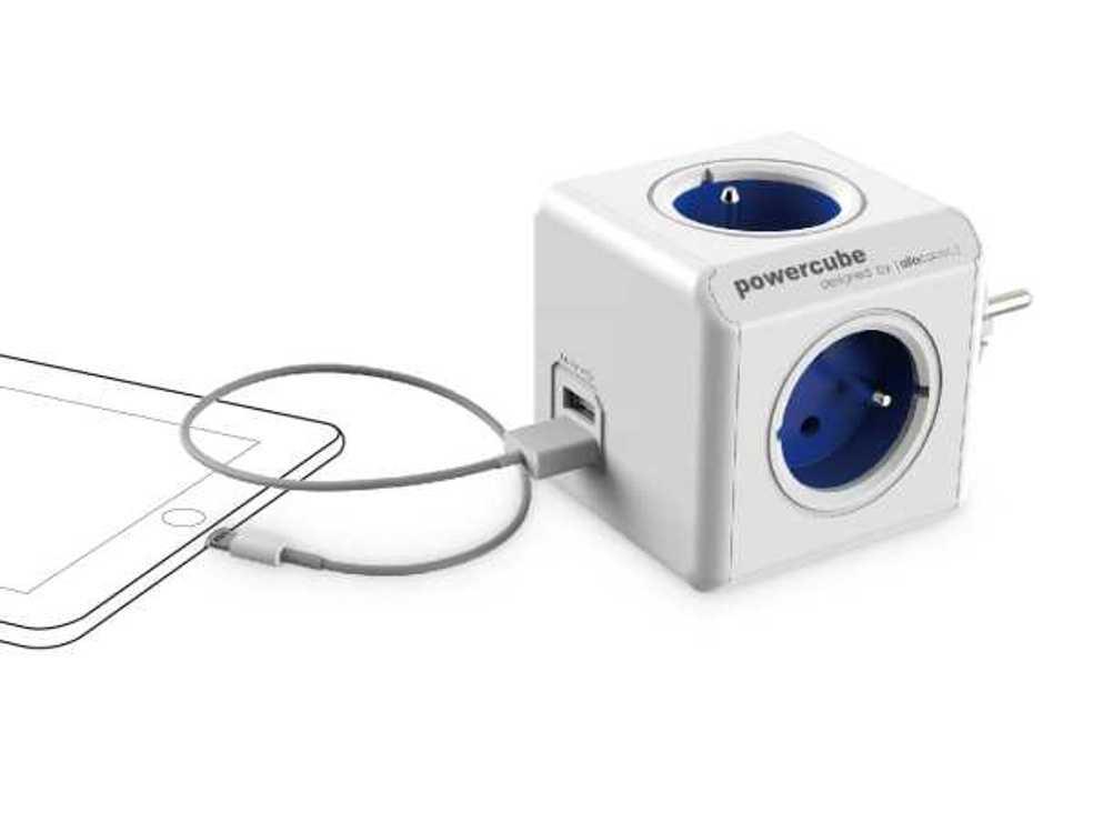 MULTIPRISE POWERCUBE ORIGINAL USB 2202blfroupc-2
