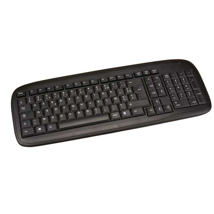 CLAVIER FILAIRE 105 TOUCHES ETANCHES USB PC BLISTER 0