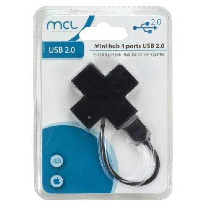 HUB 4 PORTS USB 2 . 0 AUTO ALIMENTE NOIR BLISTER produit337260