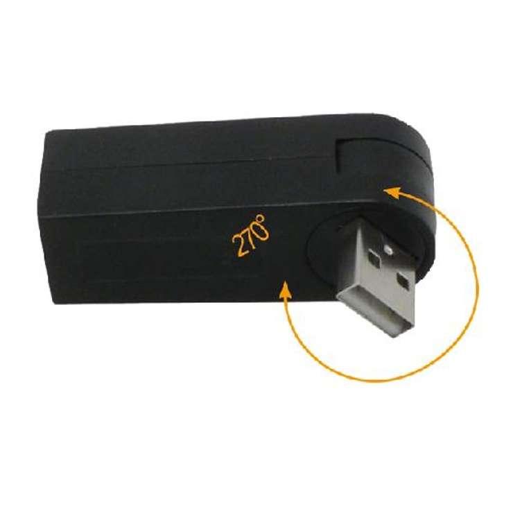 HUB 3 PORTS USB 2 . 0 MINI ROTATIF AUTOALIMENTE BLISTER 0