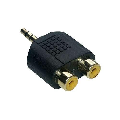ADAPTATEUR AUDIO 3,5MM M/ 2 X RCA F HQ 0