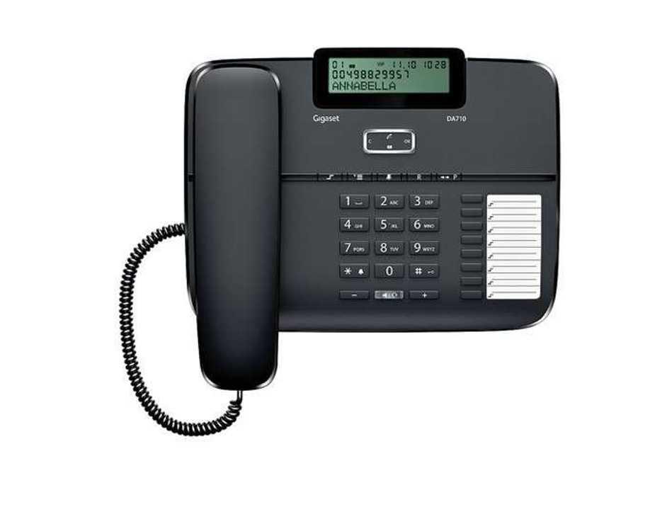 TELEPHONE DA710 FILAIRE MAINS LIBRES gsada710noir1