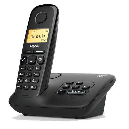 TELEPHONE A170A SOLO AVEC REPONDEUR SANS FIL NOIR 0