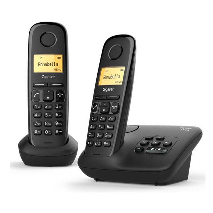 TELEPHONE A170A DUO AVEC REPONDEUR SANS FIL NOIR 0