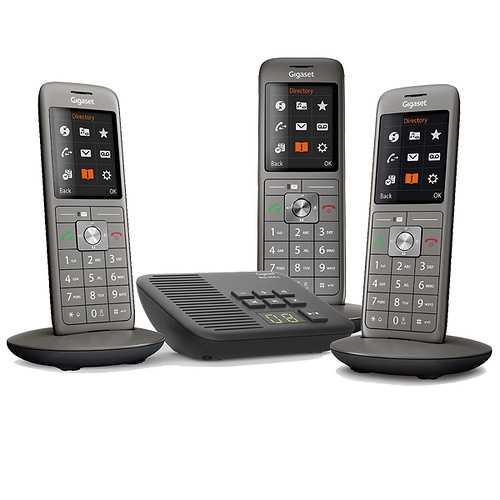 TELEPHONE CL660A TRIO AVEC REPONDEUR SANS FIL NOIR 0