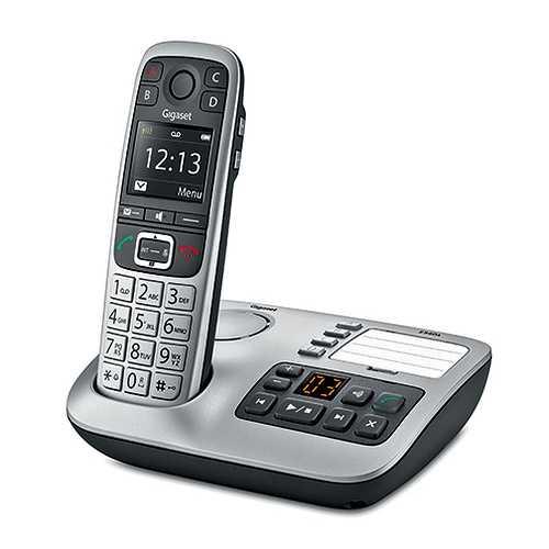 TELEPHONE E560A AVEC REPONDEUR SANS FIL ARGENT 0