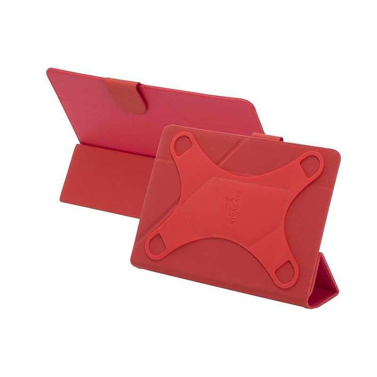 ETUI TABLETTE MODULABLE UNIVERSEL 10.1'''' CUIR PU ROUGE 3137red2