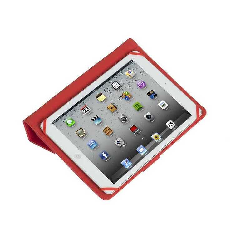 ETUI TABLETTE MODULABLE UNIVERSEL 10.1'''' CUIR PU ROUGE 3137red5