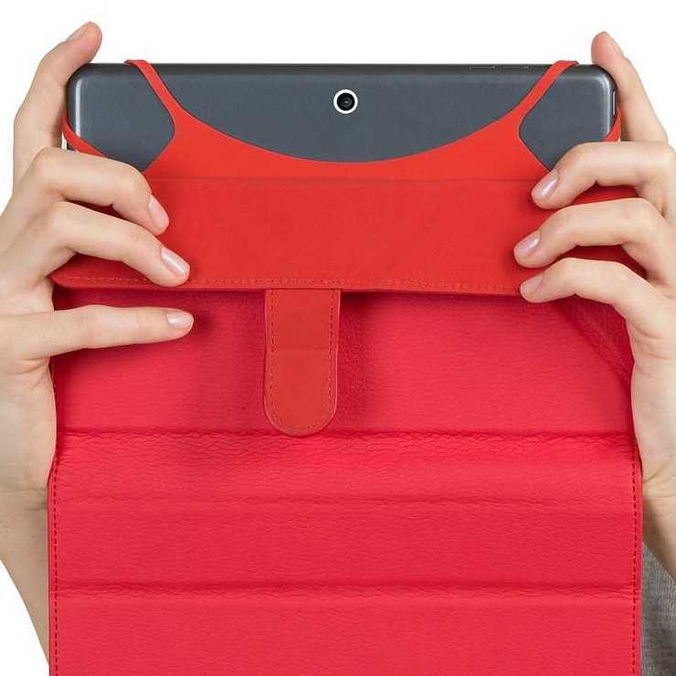 ETUI TABLETTE MODULABLE UNIVERSEL 10.1'''' CUIR PU ROUGE 3137red7