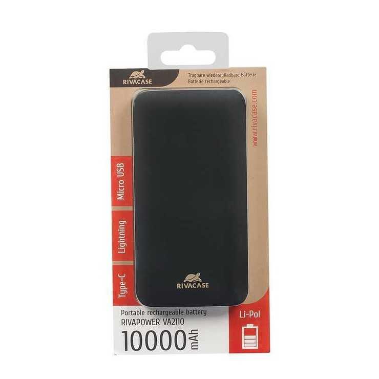 BATTERIE DE SECOURS 10000 MAHMICRO USB / TYPE C / LIGHTNING va21103