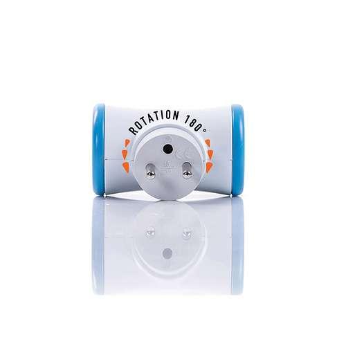 MULTIPRISE BIPLITE ROTATIVE 180° - BLEUE 0