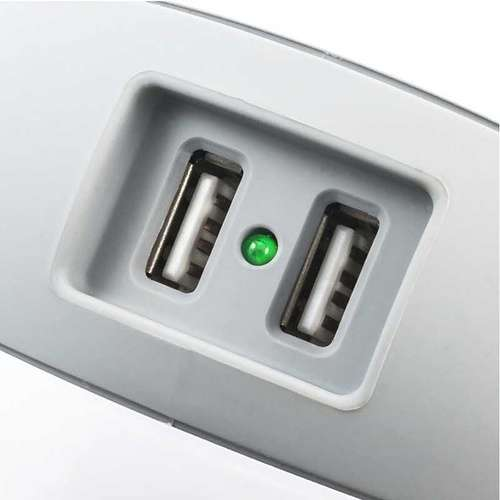MULTIPRISE WATTBALL MULTIMEDIA 2XSECTEURS + 2 X USB GRIS gris4