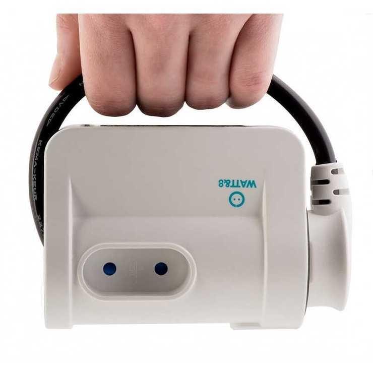 MULTIPRISE DE VOYAGE PARASURTENSEUR 3 PRISES + 2 USB mpftravelwat2b2