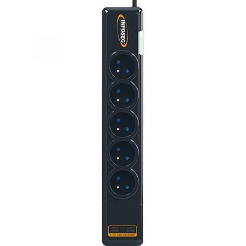 PRISE PARAFOUDRE S5 USB NEO - 5 PRISES FR + 2 USB 612982