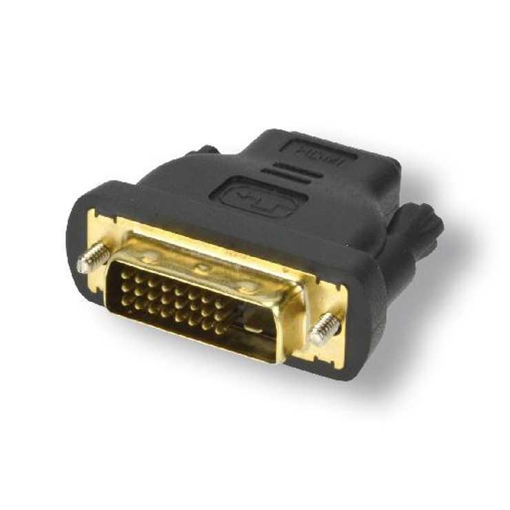ADAPTATEUR DVI-D MALE / HDMI FEMELLE HAUTE QUALITE SACHET 0
