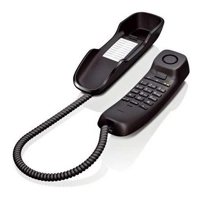 TELEPHONE FILAIRE COMPACT DA210 MURAL - NOIR da2103