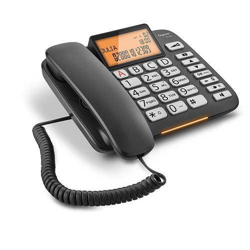 TELEPHONE DL580 FILAIRE A TOUCHES LARGES - NOIR 0