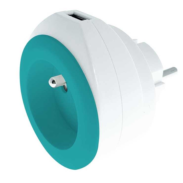 CHARGEUR BEWATT USB 2.4A + 16A TURQUOISE 0