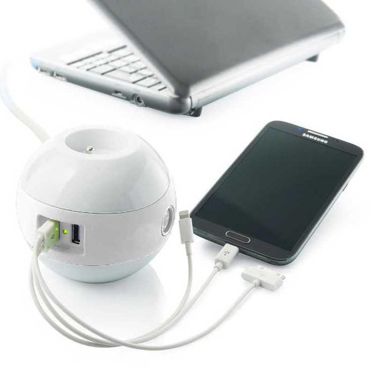 MULTIPRISE WATTBALL MULTIMEDIA 2XSECTEURS + 2 X USB BLANC mpwattblblanc2
