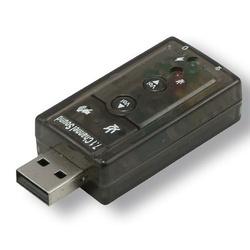 CONVERTISSEUR USB 2.0 VERS AUDIO EFFET 7.1 (CASQUE+MICRO) SOUS BLISTER
