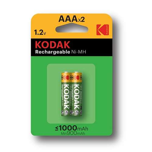 PILES RECHARGEABLES NI-MH 1000 MAH ALCALINE LR03 AAA X 2 0