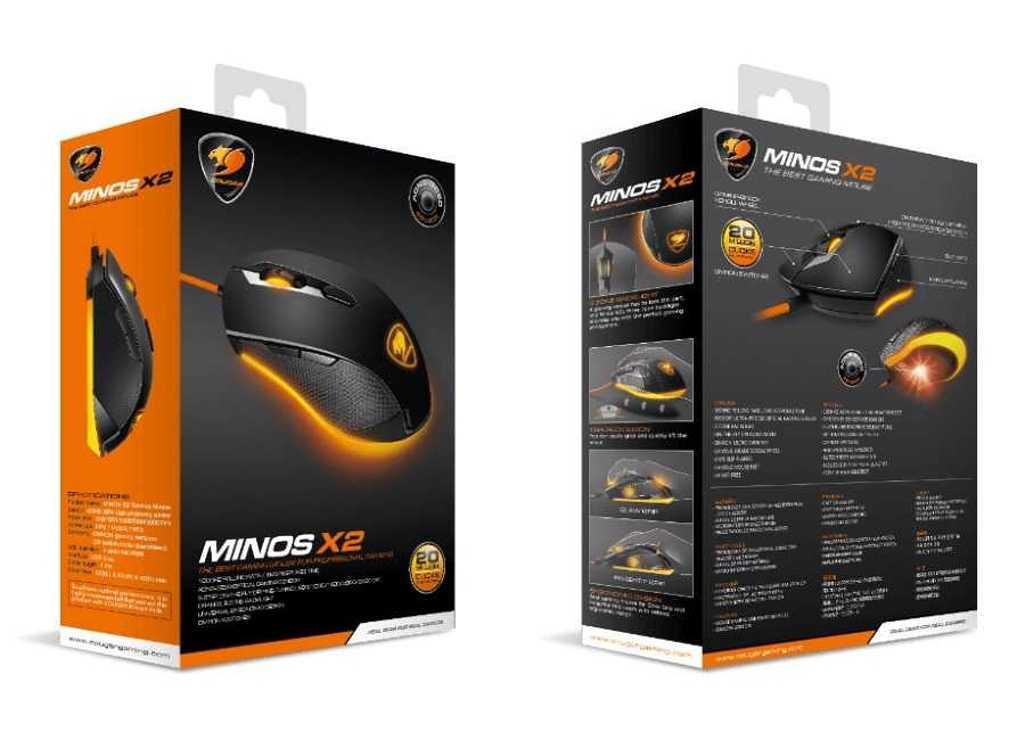 SOURIS GAMING MINOS X2 3000 DPI NOIR minosx22