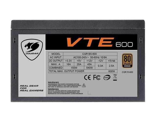 ALIMENTATION PC GAMING VTE600 80 PLUS BRONZE 600 WATTS vte5006