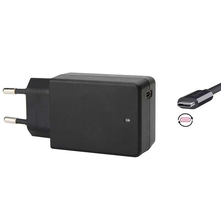 ALIMENTATION POUR PORTABLE USB TYPE C 65W PRISE SECTEUR 0