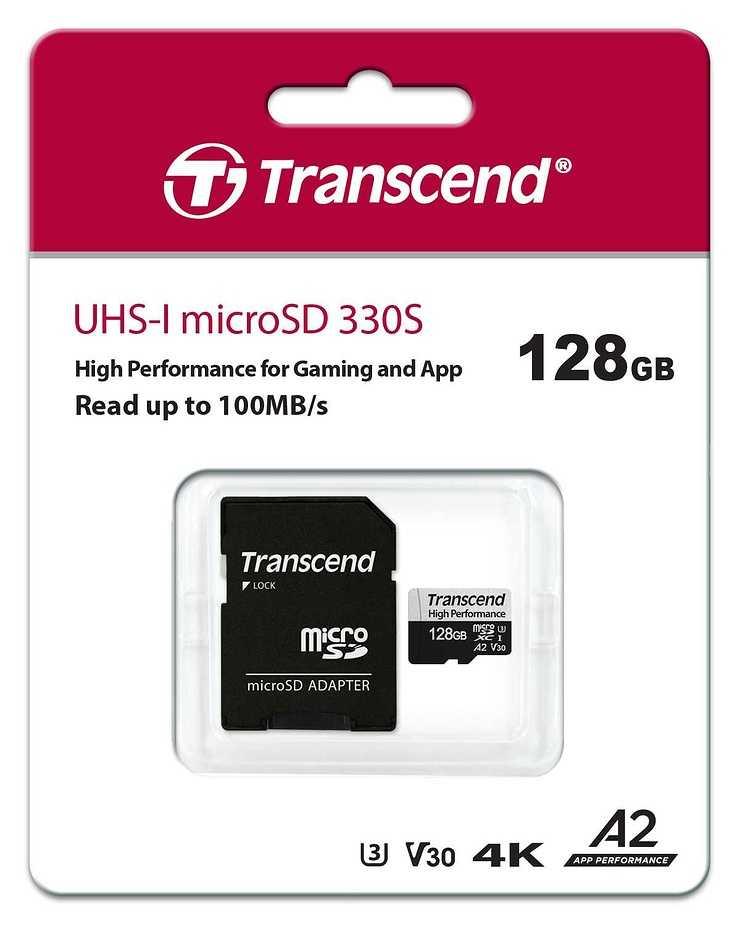 CARTE MEMOIRE MICRO SD 128 GO UHS-I U3 A2 ts128gusd330-ppbpkg