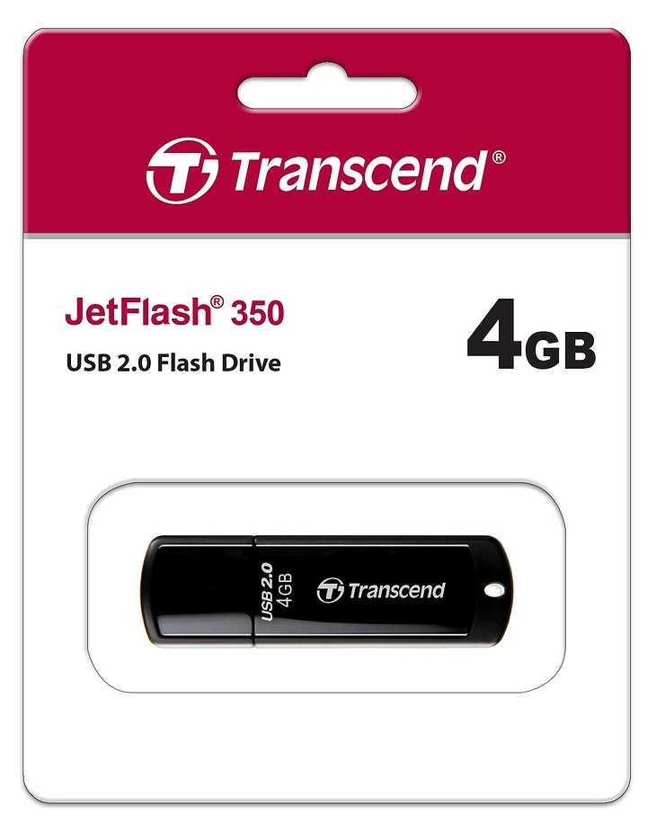 CLE USB 4GO SERIE 350 NOIR USB 2.0 ULTRA SPEED ts4gjf350p
