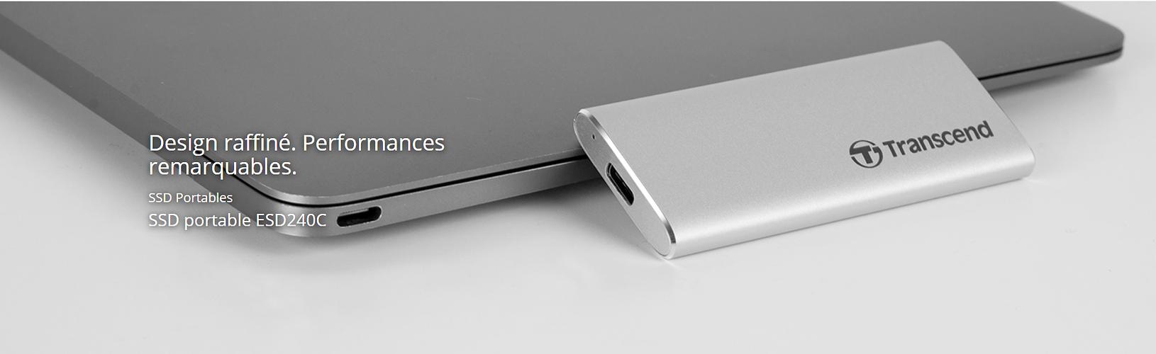 """LOT DE 2 DISQUES DURS EXTERNES 120GB SSD 2.5"""" USB TYPE-C EXTRA SLIM ts120gesd240c2"""