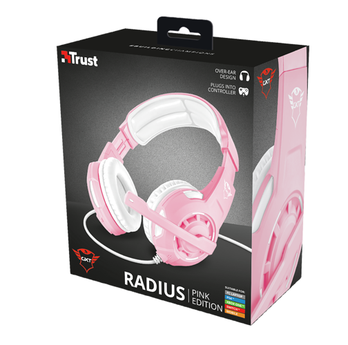 CASQUE + MICRO GXT-310 RADIUS PC/PS/4 / XBONE ONE ET SWITCH JACK GAMER ROSE tr232034