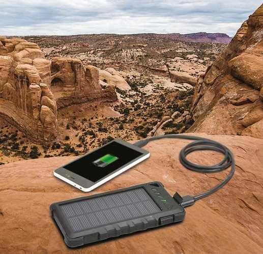 CHARGEUR SOLAIRE 8000 MAH 2 X USB (2.1 + 1 A) 9001143