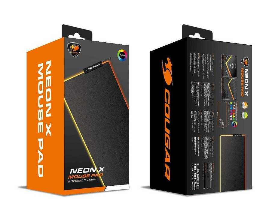 TAPIS SOURIS GAMING NEON X RGB LARGE neonx1